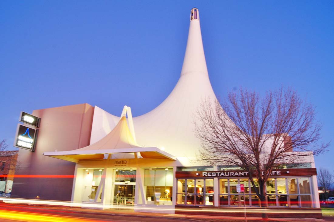 Outside view of the Mantra Pavilion in Wagga Wagga
