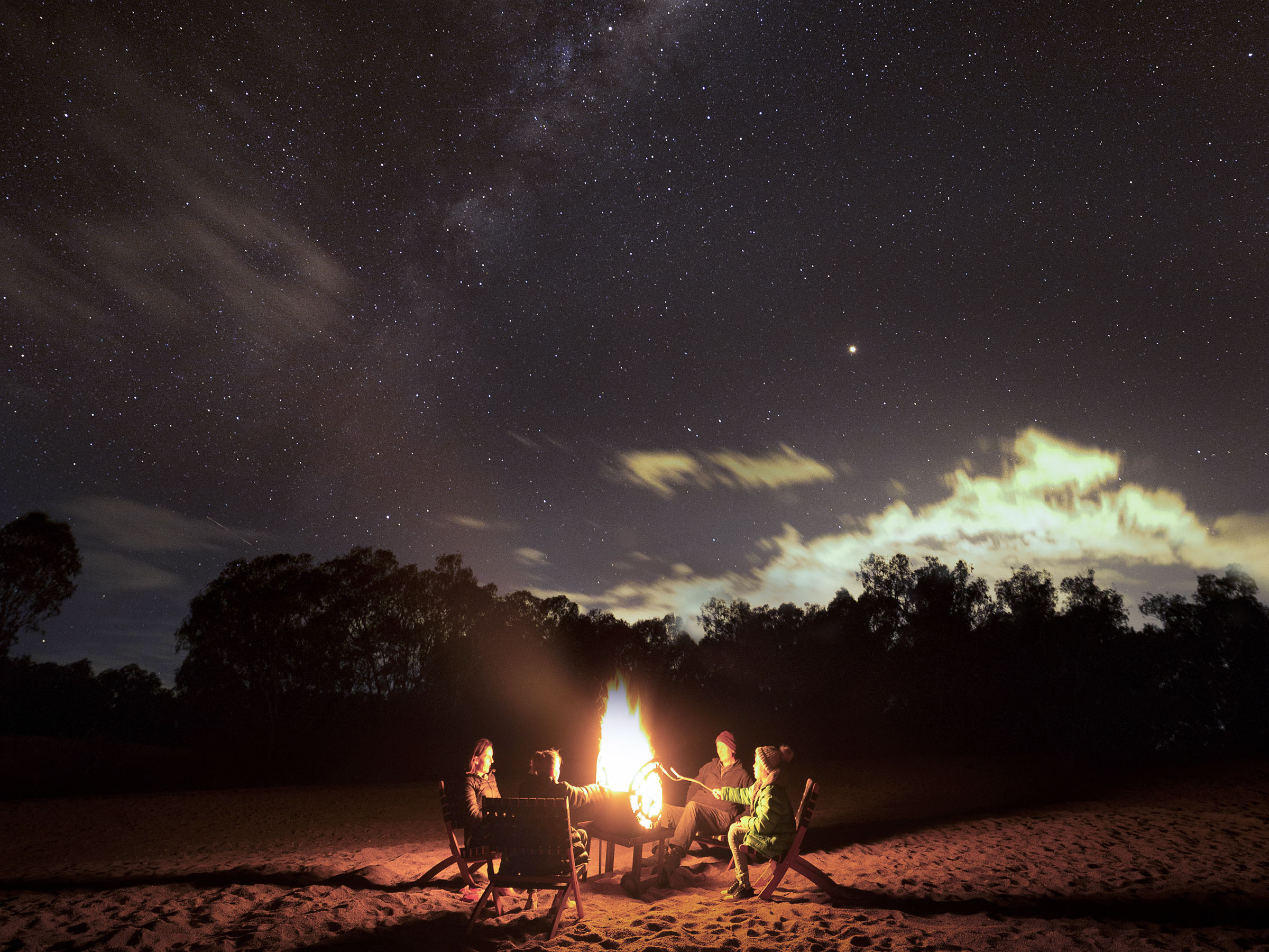Camping under the stars in Wagga Wagga