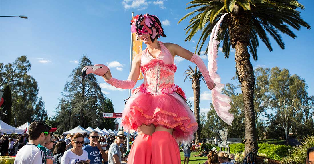 Entertainment at Fusion Multicultural Street Festival in Wagga Wagga