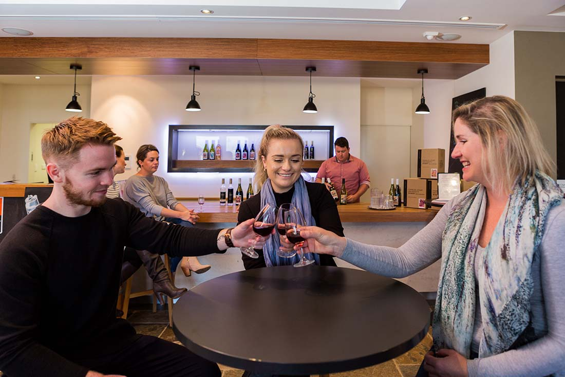 Wine tasting at Charles Sturt University Boutique Winery in Wagga Wagga