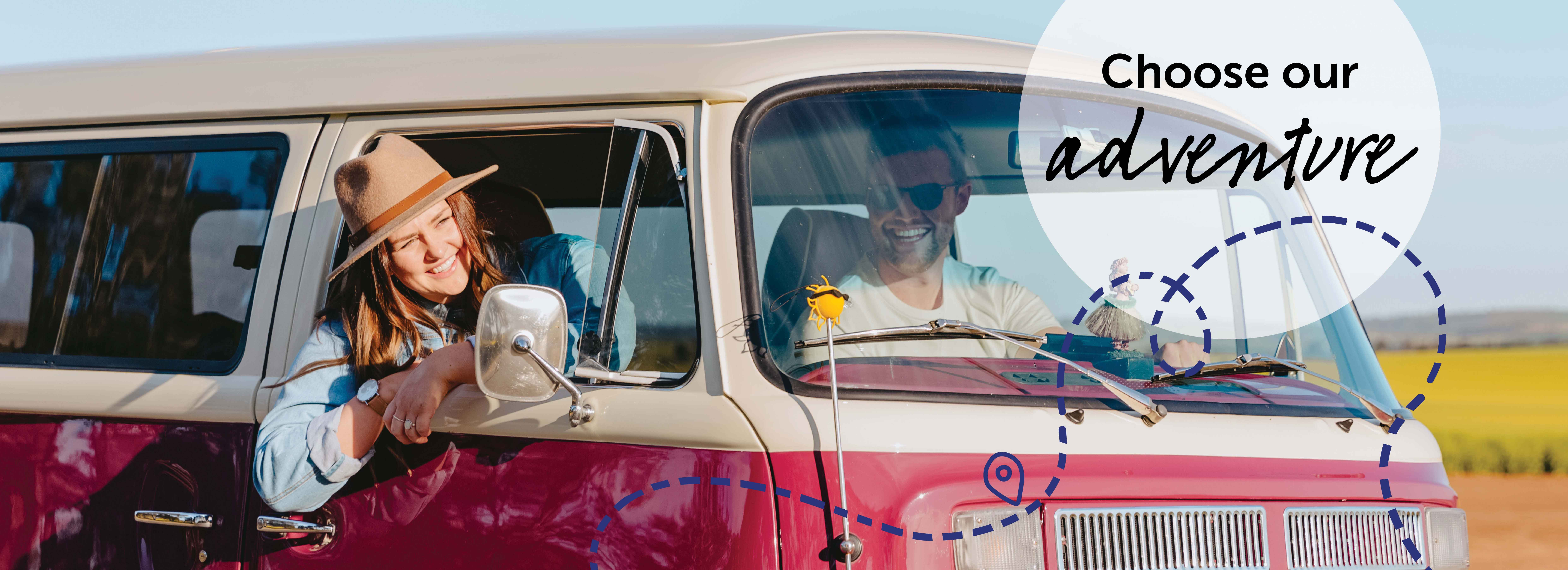 Girl in kombi looking out the window