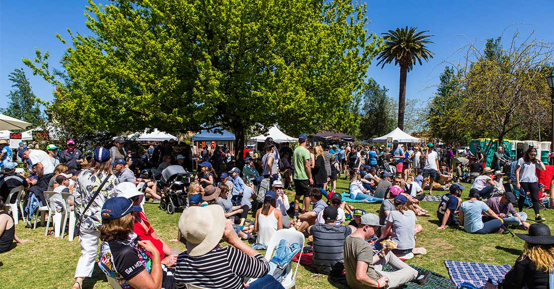 Crowds at Gears and Beers festival in Wagga Wagga