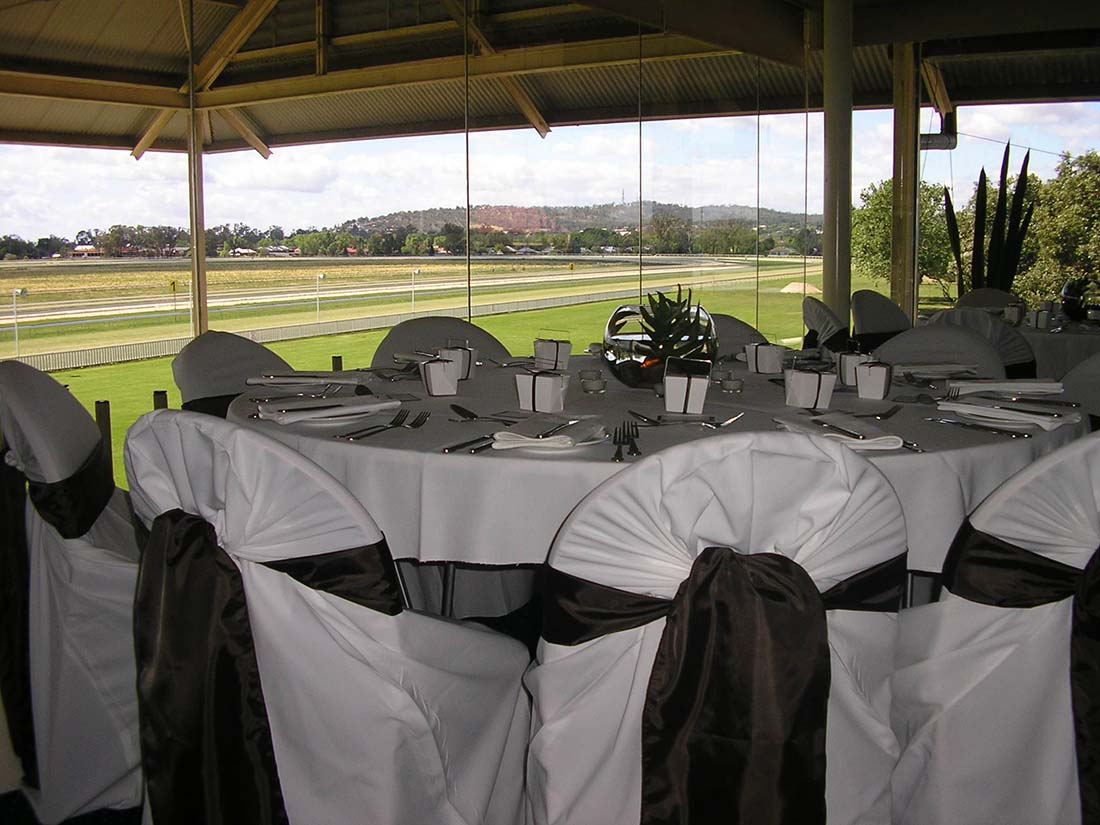 Function setup at the Murrumbidgee Turf Club in Wagga Wagga