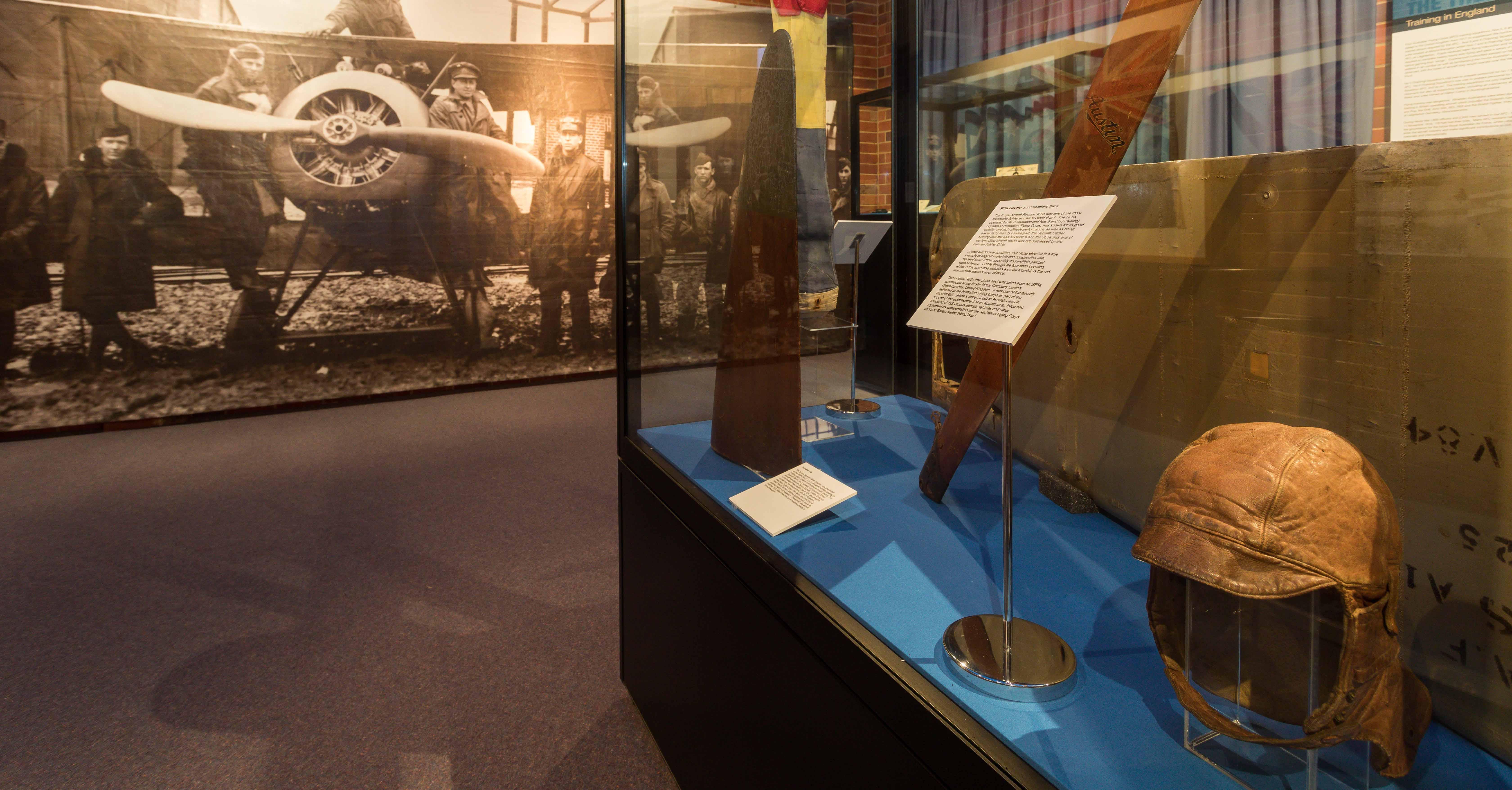 Display inside RAAF Heritage Centre Wagga Wagga