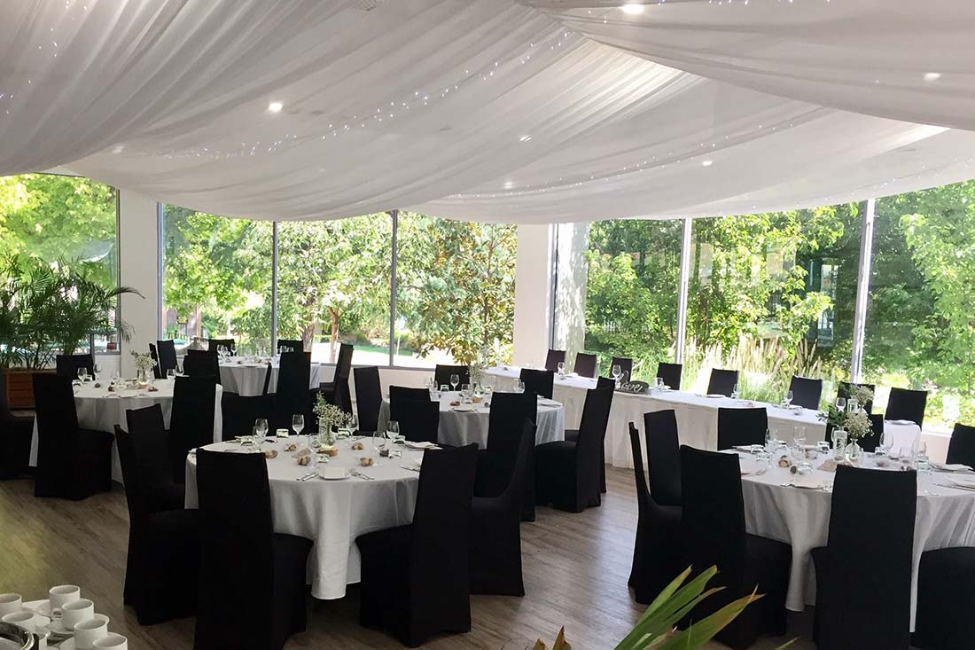 Function setup at Elements at the Gardens in Wagga Wagga