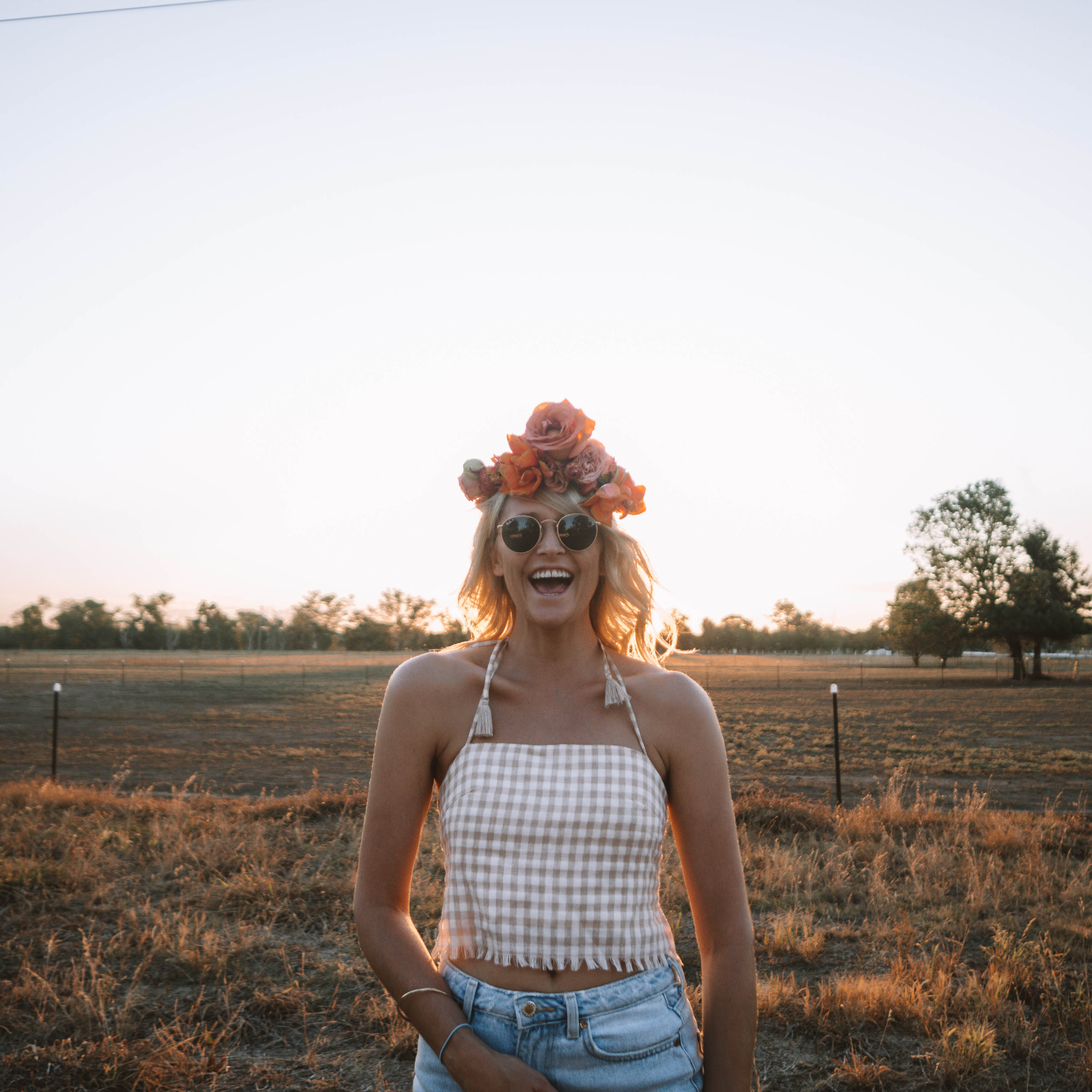 Make a flower crown in Wagga Wagga at Little Triffids flower farm
