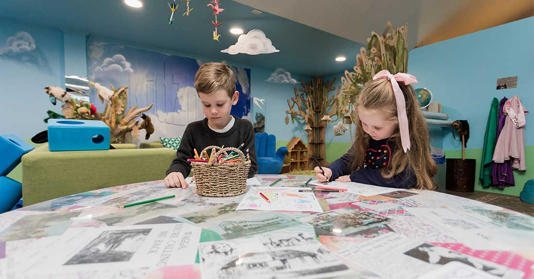 Kids enjoying activities at Kidzone in the Museum of the Riverina in Wagga Wagga