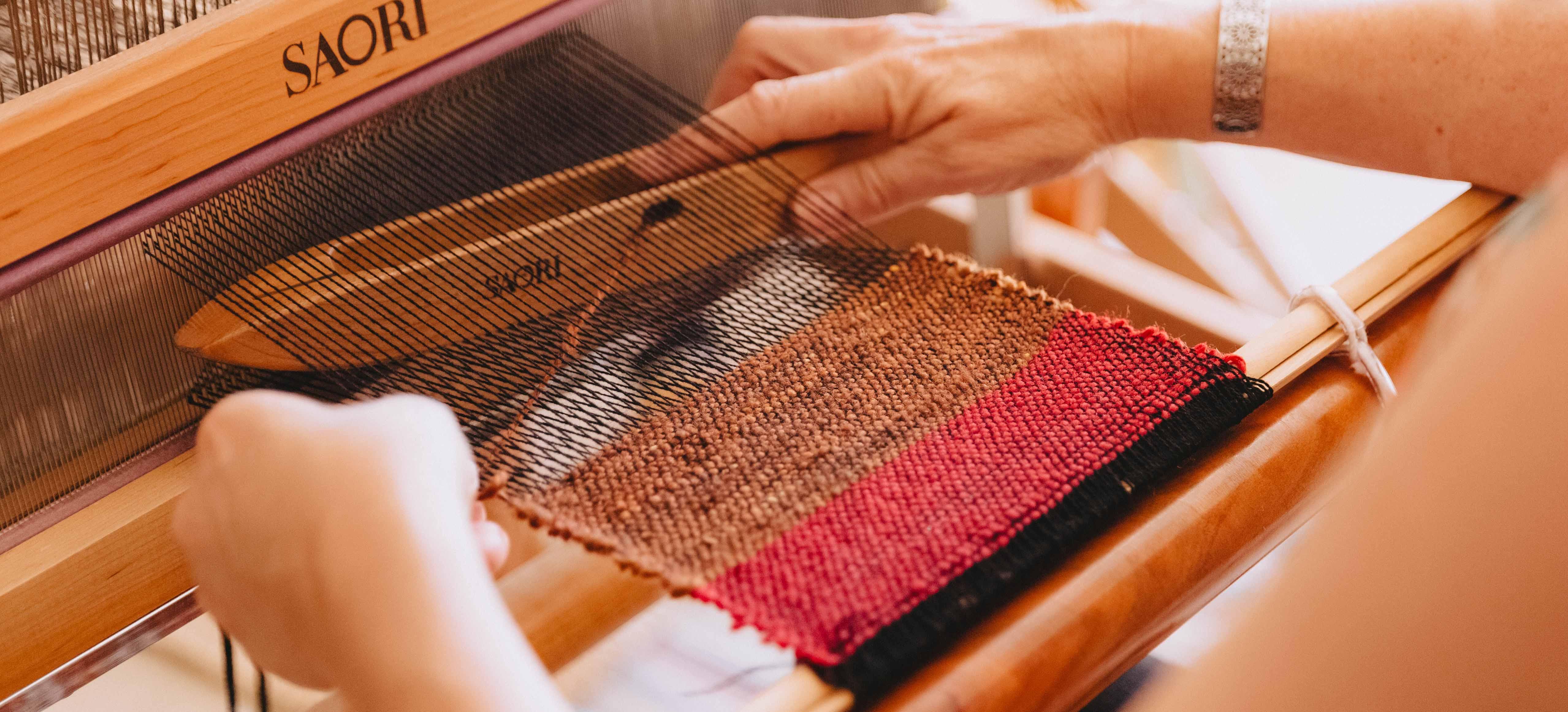Take a weaving class using alpaca wool at Ashculme Textiles